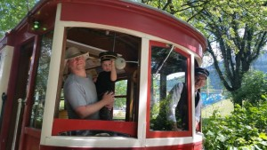 NETS Member and Driver get a jump start on Fathers day with Car Barn Tour and ride on Streetcar #23